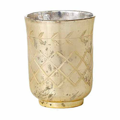 Teters Floral Products 3.15-inch x 2.35-inch Cut Glass Votive (Pack of 6)