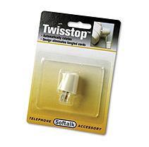 Softalk 1505 Twisstop Rotating Phone Cord Detangler Ivory