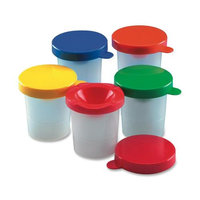 Charles Leonard Co. Paint Cups, w/Colored Lid,10/ST, Assorted Colors