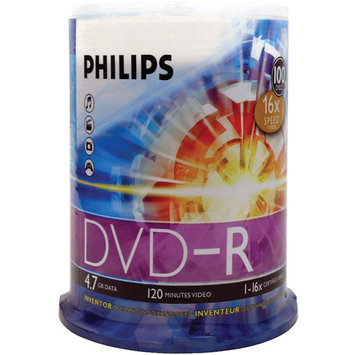 Philips DM4S6B00F/17 DVD-R 16X 100PK Spindle
