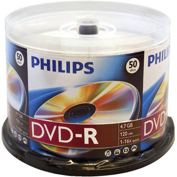 Philips DM4S6B50F/17 DVD-R 16X 50PK Spindle