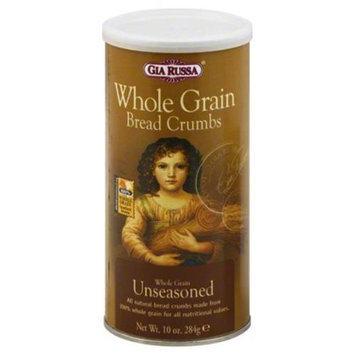 Gia Russa Whole Grain Unseasoned Bread Crumbs, 10 oz, - Pack of 6