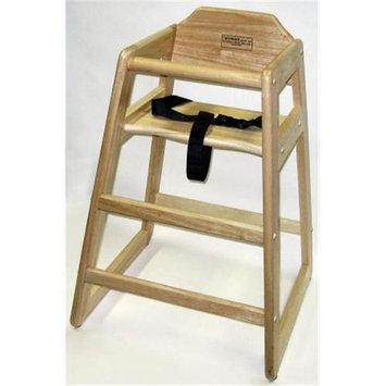 Lipper Restaurant Style Wooden High Chair - Natural