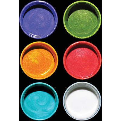 Luminarte 30725 Silks Acrylic Glaze 10ml Jars 6-Pkg-Lets Get Started