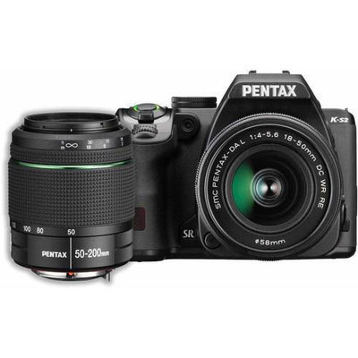 Pentax K-s2 20.1 Megapixel Digital Slr Camera With Lens - 18mm - 50mm [lens 1], 50mm - 200mm [lens 2] - Black - 3 Lcd - 169 - 2.8x/4x Optical Zoom - P-ttl - 5472 X 3648 Image - 1920 X (11610)