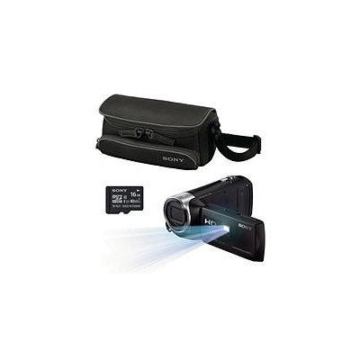 Sony PJ275 Full HD Projector Camcorder Bundle with 27x Optical Zoom, Sony 16GB SD Card, and Sony Case