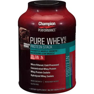 Champion Nutrition Pure Whey Plus Chocolate Brownie - 4.8 lbs