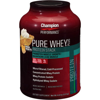 Champion Nutrition Pure Whey Plus Banana Cream Pie 4.8 lbs