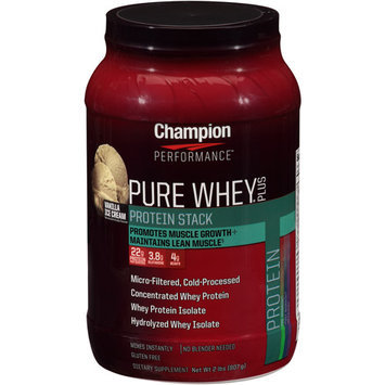 Champion Performance - Pure Whey Plus Protein Stack Vanilla Ice Cream - 2 lbs.