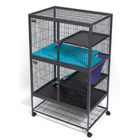 Midwest Pets Ferret Nation Accessories Top Pan Cover in Teal and Purple