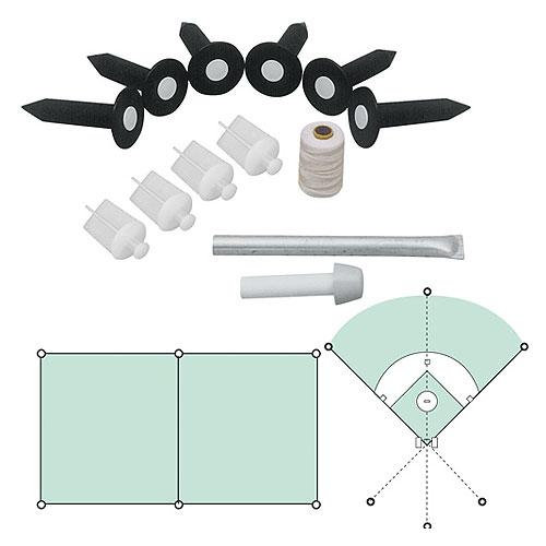 MARKERS INC MKBLP6 Football Training Baseball Field Lining Kit