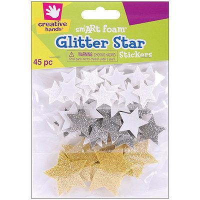 Fibre Craft 7531E Foam Glitter Stickers 45/Pkg