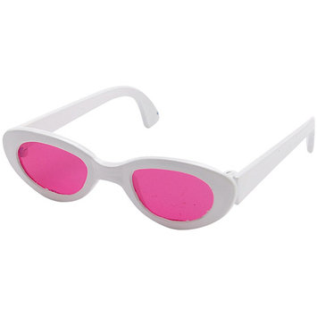 Fibre Craft Springfield Collection Sunglasses-White W/Pink Lenses