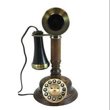 Golden Eagle Electronics WOODCANDLESTICK Gee805 Wood Candlestick Phone