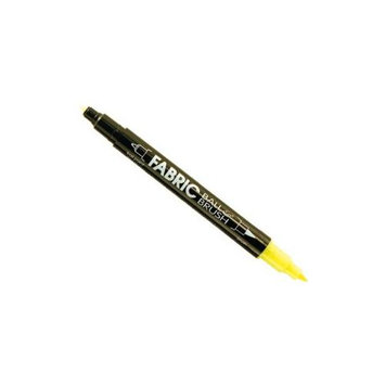 Uchida Of America Corp Ball & Brush Fabric Marker-Fluorescent Yellow