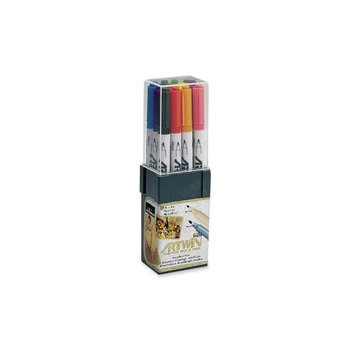 Uchida of America Double-Tip Marker, Medium/Fine Points, Water-Base Ink, Assorted