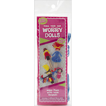 Leisure Arts 150030 Make Your Own Worry Dolls Kit-Makes 4-Cheerleader