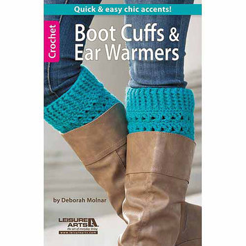Leisure Arts-Boot Cuffs & Ear Warmers