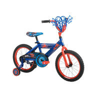 Huffy Boys' Marvel Spider-Man 16-Inch Bike With WebTrap Handlebar Basket
