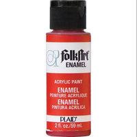 Plaid 257720 Folk Art Enamel Paint 2 OuncesEngine Red