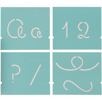 Plaid:craft Martha Stewart Looped Script Alphabet Stencil Set (48 Pack)