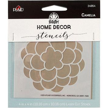 Plaid:craft FolkArt Home Decor Stencil 4inx4inCamelia