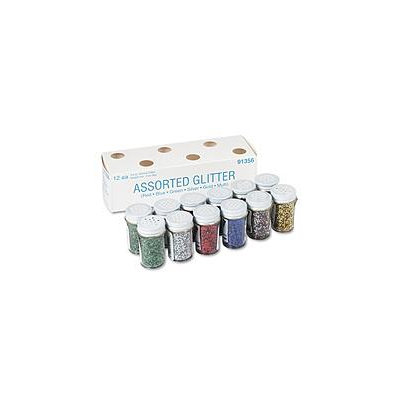 Pacon Creative Products Pacon Spectra Glitter Sparkling Crystals - 0.75 oz - 12/Pack - Assorted