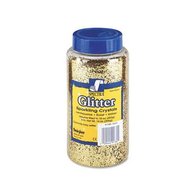 Pacon Spectra Glitter Sparkling Crystals - 16 oz - 1Each - Gold