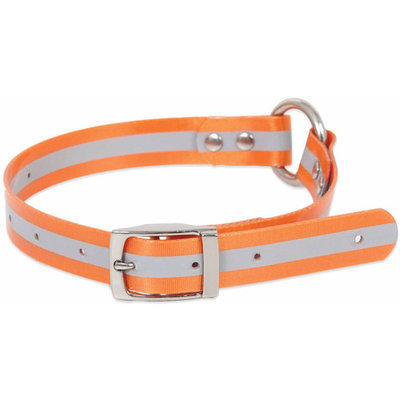 Doskocil 10799 1in X 14in-22in TPU Coated Orange Ruff Maxx Dog Collar