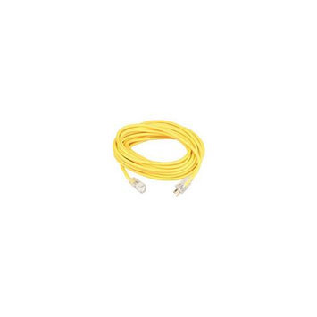 Coleman Cable 01294 10 16/3 Yellow American Contractor Outdoor Extension Cord