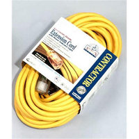 Coleman Cable 01799 100 10/3 Yellow American Contractor Outdoor Extension Cord