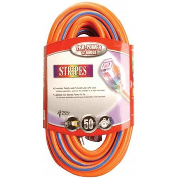 Coleman Cable 50ft. 12-3 Stripes Outdoor Extension Cord 02548-3V