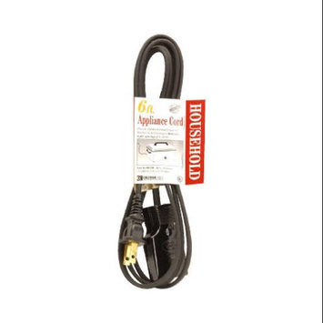 Coleman Cable 09326 16/2 Wire Gauge Black Roaster & Broiler Appliance Cord
