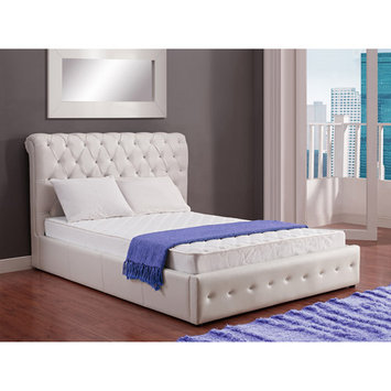 Dorel Essential in White Innerspring Coil Mattress