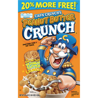 Captain Crunch Cap'n Crunch Peanut Butter Crunch Cereal, 20.6 oz
