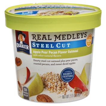 Quaker® Real Medleys Steel Cut Oatmeal Apple Pear Pecan
