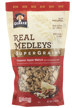 Quaker® Real Medleys Supergrains Granola Cinnamon Apple Walnut