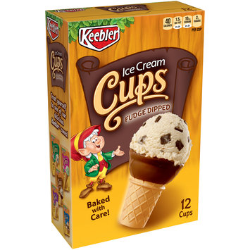 Keebler Ice Cream Cups Fudge Dipped