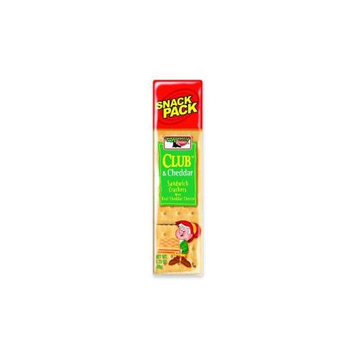 Kellogg's Sandwich Crackers, Club & Cheddar, 8-Cracker Snack Pack, 12 Packs/box
