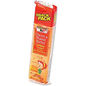 Kellogg's Sandwich Crackers, Cheese & Peanut Butter, Snack Pack, 12 - 1.8 oz packages [21.6 oz (1 lb 5.6 oz) 612 g]