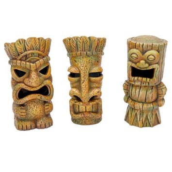 Penn-plax Inc. Penn Plax Tikis Aquarium Decor - Set of 3