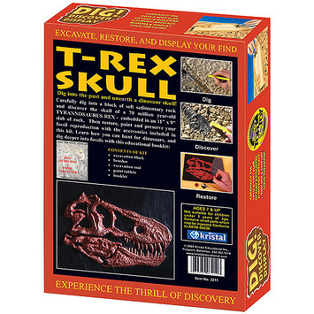KRISTAL 3211 Dig! and Discover - T - Rex Skull