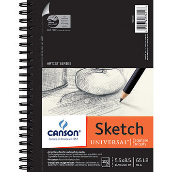 Canson Universal Sketch Book, 100 Sheets
