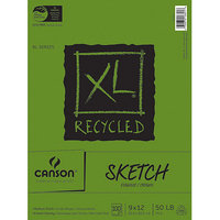 Pro-Art 457486 Canson XL Recycled Sketch Book 9 in. x 12 in. -100 Sheets