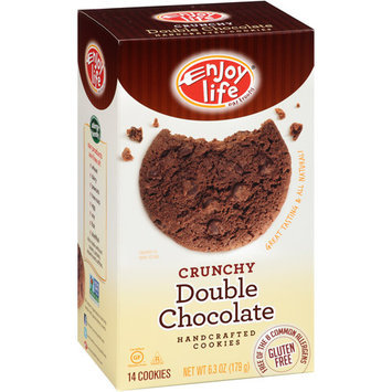 Ditka's Enjoy Life Crunchy Double Chocolate Cookies, 14 count, 6.3 oz, (Pack of 6)