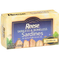 Reese Skinless & Boneless Sardines in 100% Pure Olive Oil, 4.375 oz, (Pack of 10)