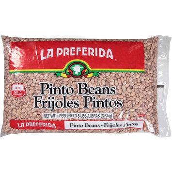 La Preferida Pinto Beans Frijoles Pintos, 8 lbs, (Pack of 6)