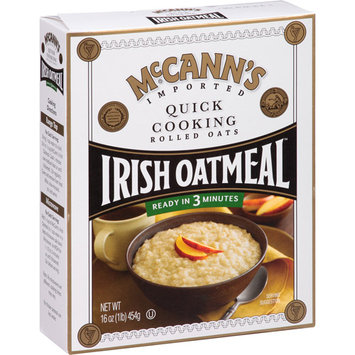 McCann's Quick Cooking Rolled Oats Irish Oatmeal, 16 oz, (Pack of 12)