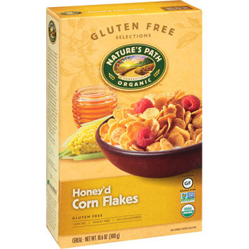 Nature's Path Organic Gluten Free Selections Honey'd Corn Flakes Cereal, 10.6 oz, (Pack of 6)