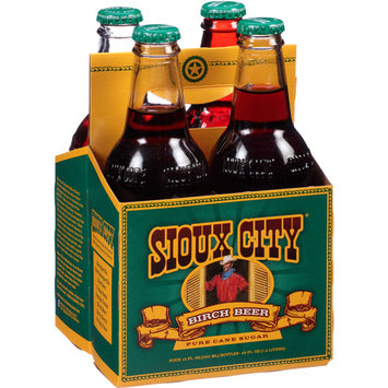 Sioux City Birch Beer Soda, 4 count, 12 fl oz, (Pack of 6)